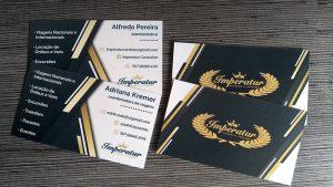 Cartão de Visitas Prolan e Verniz