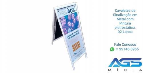 Cavalete de Publicidade em Metal com pintura Eletrostática